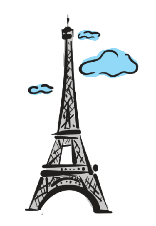 Tree clipart lanzone. Torre eiffel png no