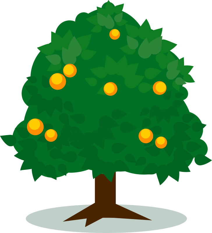 Orange free download best. Tree clipart narra