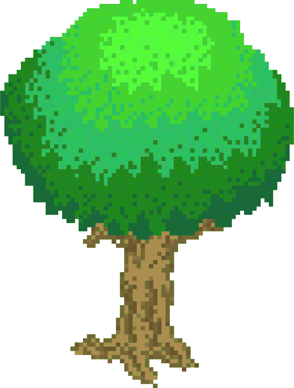 Tree clipart retro. Pixel light green medium