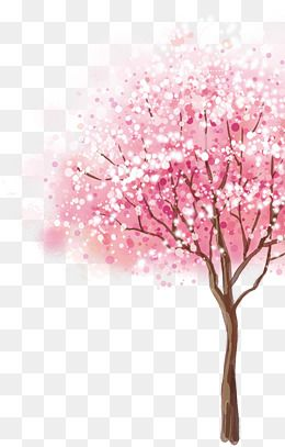 cherry pink png. Tree clipart romantic