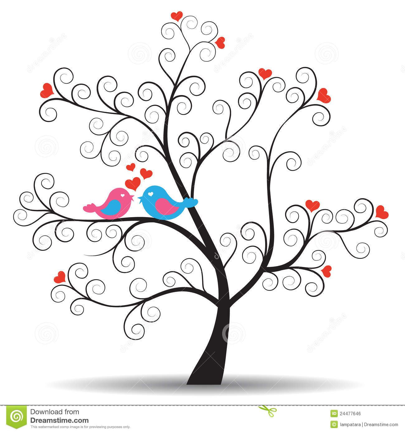 Images of and bird. Tree clipart romantic