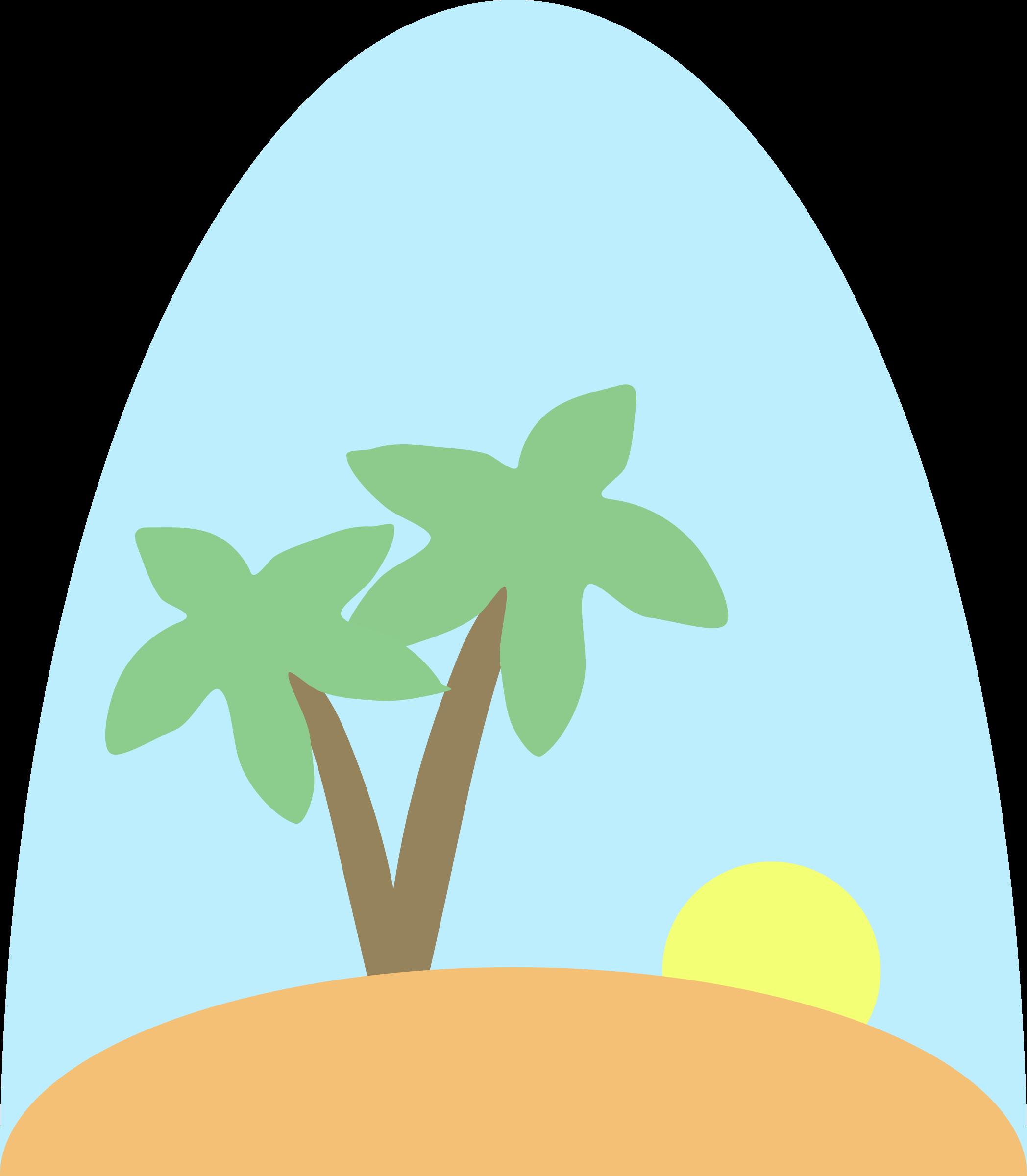 Island big image png. Tree clipart scene