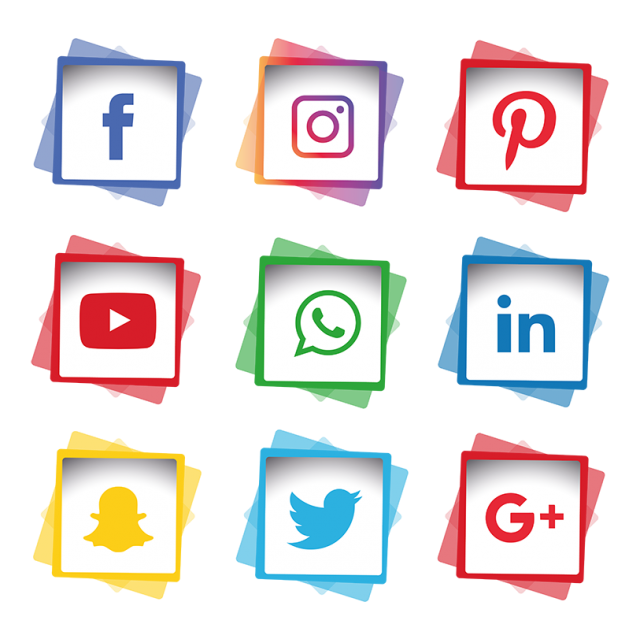 Tree clipart social media. Icons set icon png