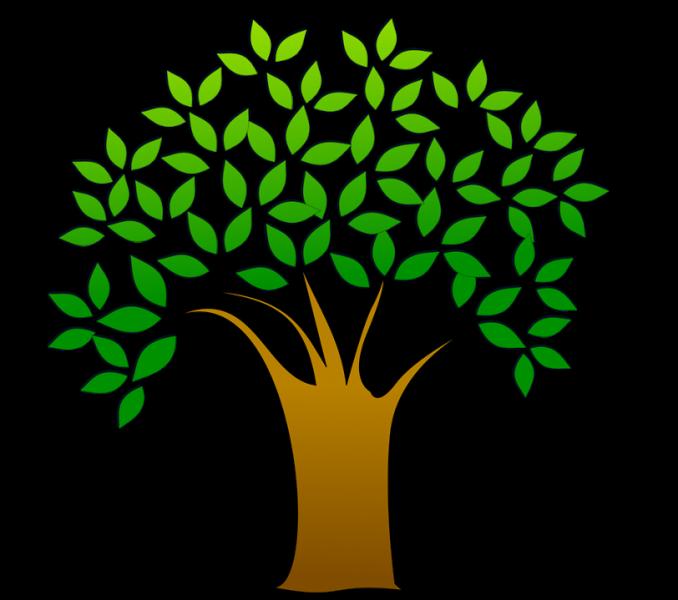 Free stock photo illustration. Tree clipart truck