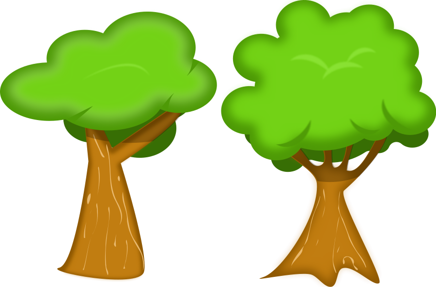 Soft trees svg file. Tree clipart vector