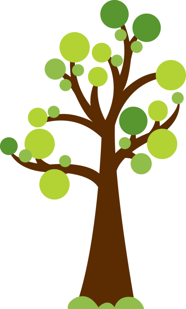 Unique with circles for. Tree clipart wedding