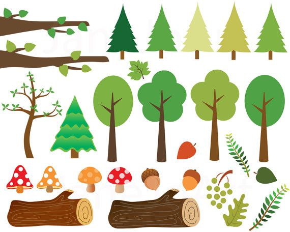 Woodland clipart woodland tree.  wald tiere fuchs
