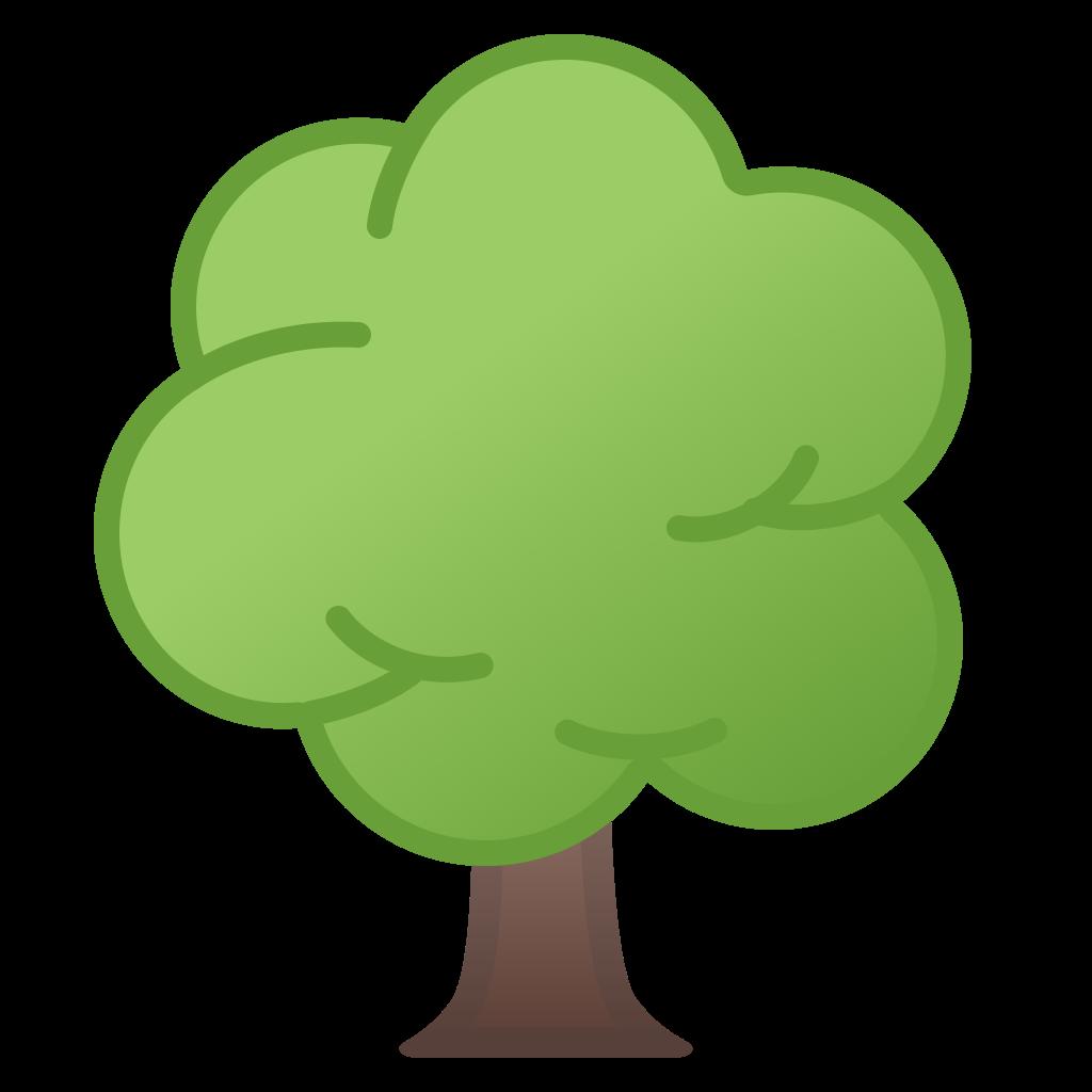 Deciduous noto emoji animals. Tree icon png