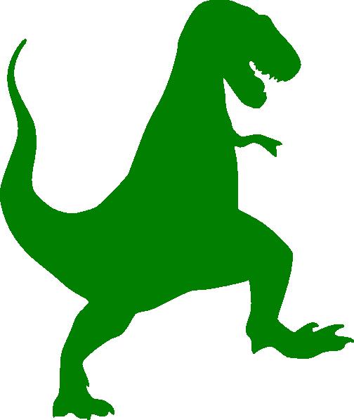 Green t rex silhouette. Trex clipart