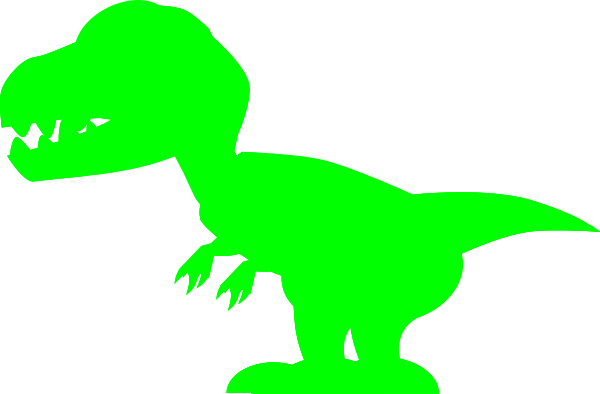 Green clip art at. Trex clipart