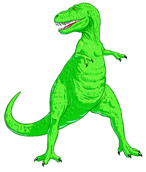 T rex this green. Trex clipart