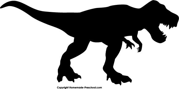 T rex silhouette clip. Trex clipart