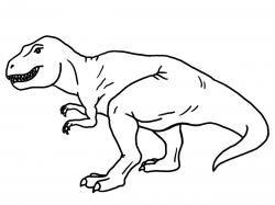 Tyrannosaurus t rex outline. Trex clipart black and white