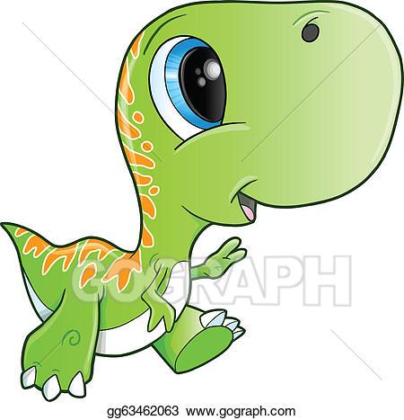 Trex clipart cute. Eps vector tyrannosaurus rex