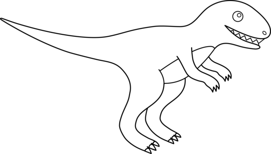 Free dinosaur outlines download. Trex clipart outline