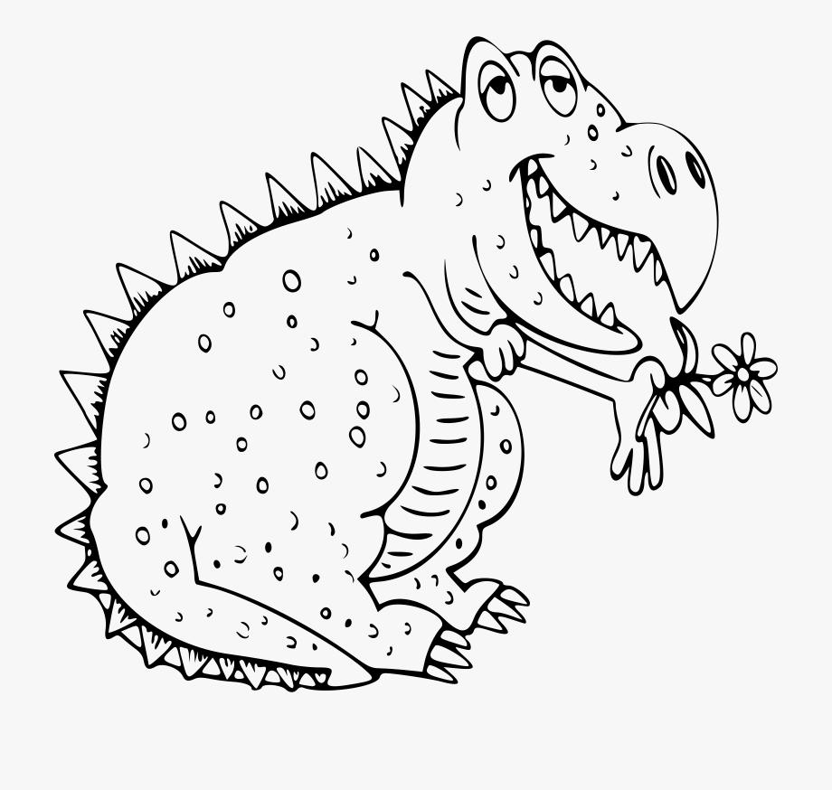 Trex clipart outline. Dinosaur t rex disegno