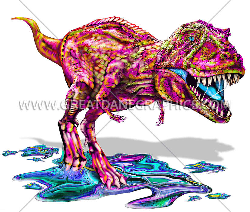 Colorful t rex production. Trex clipart running