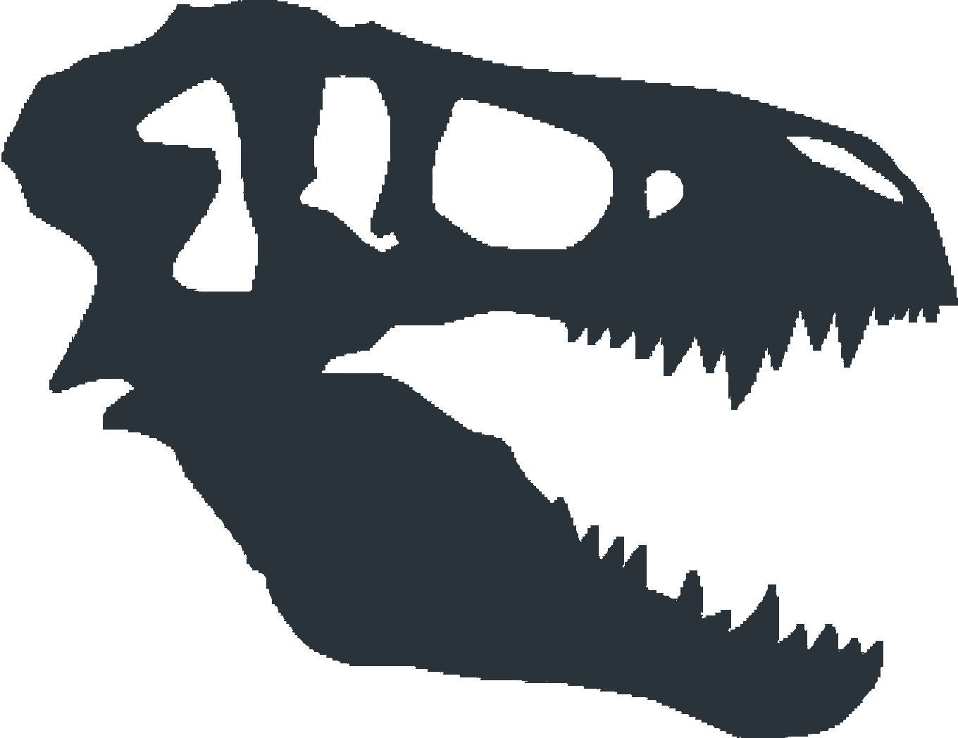 Fonts for the photographer. Trex clipart skull