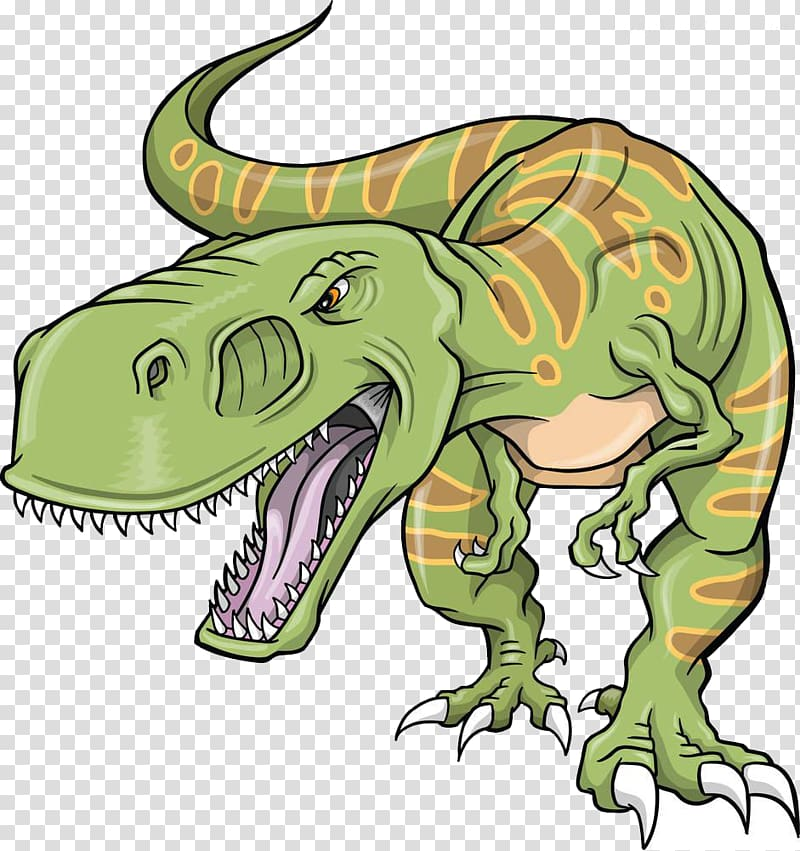 Green and brown t. Trex clipart triceratops