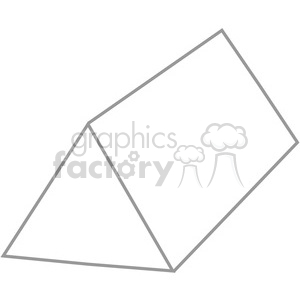 Triangular clipart. Royalty free geometry prism