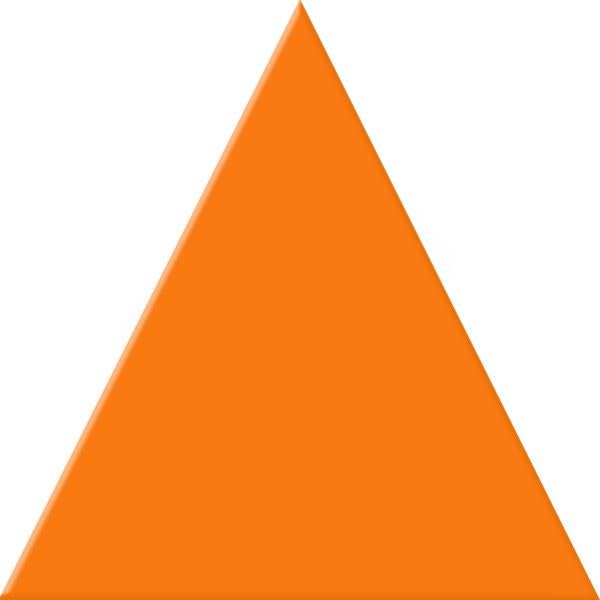 Orange triangle free images. Triangular clipart