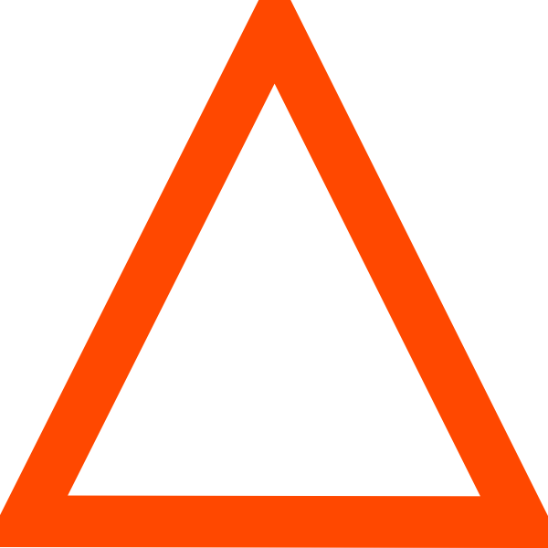 Triangular clipart. Orange triangle clip art