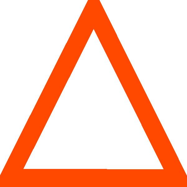 Orange clip art at. Piano clipart triangle