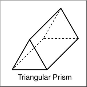 Clip art d solids. Triangular clipart
