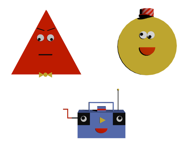 triangular clipart angry