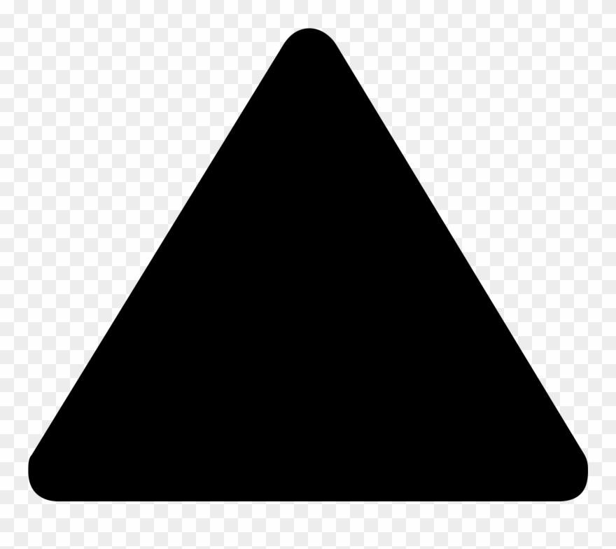 Black triangle transparent . Triangular clipart clear background