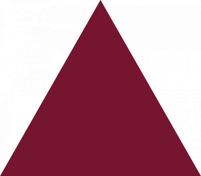 Burgundy triangle . Triangular clipart different shape