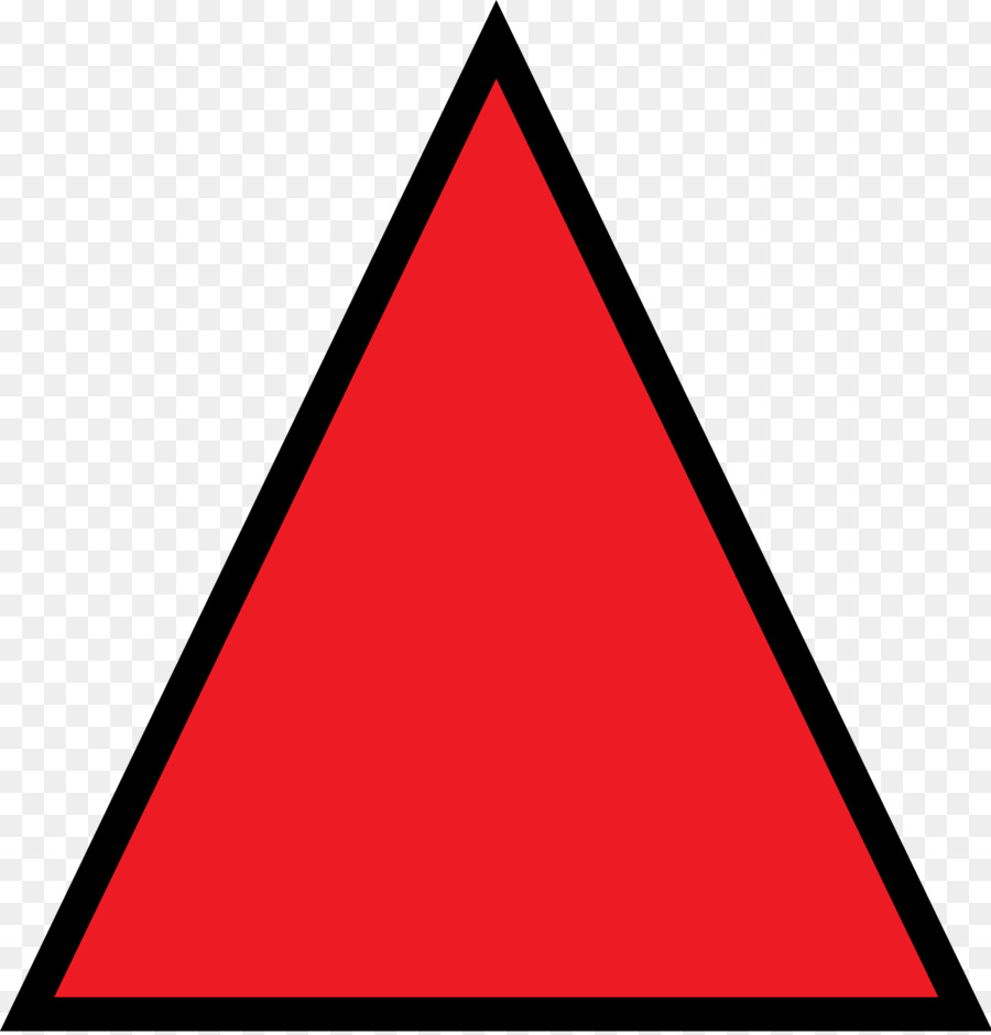 Triangular clipart different shape. Triangle background red
