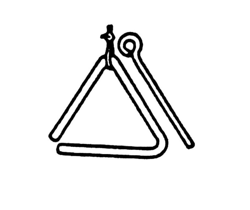 Triangle ourclipart pin . Triangular clipart percussion instrument