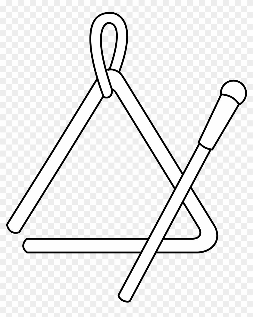 Triangular clipart percussion instrument. Instruments black and white