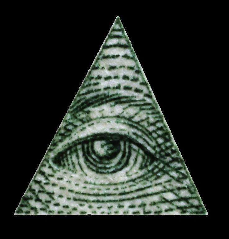 Illuminati triangle drawing at. Triangular clipart pyramid