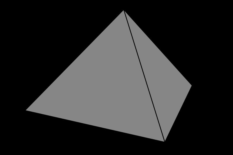 Triangular clipart pyramid. Simple grey medium image