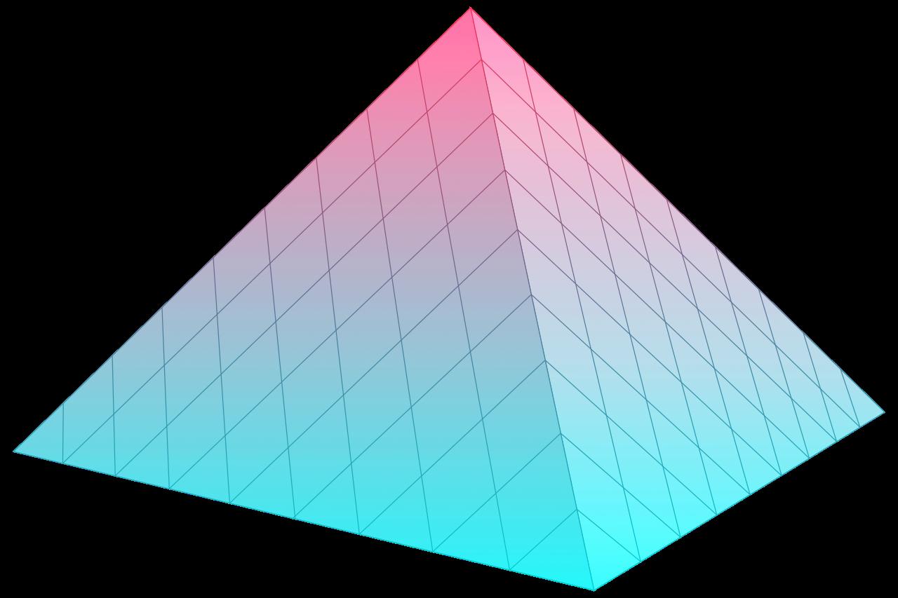 Vaporwave aesthetic grunge pastel. Triangular clipart pyramid