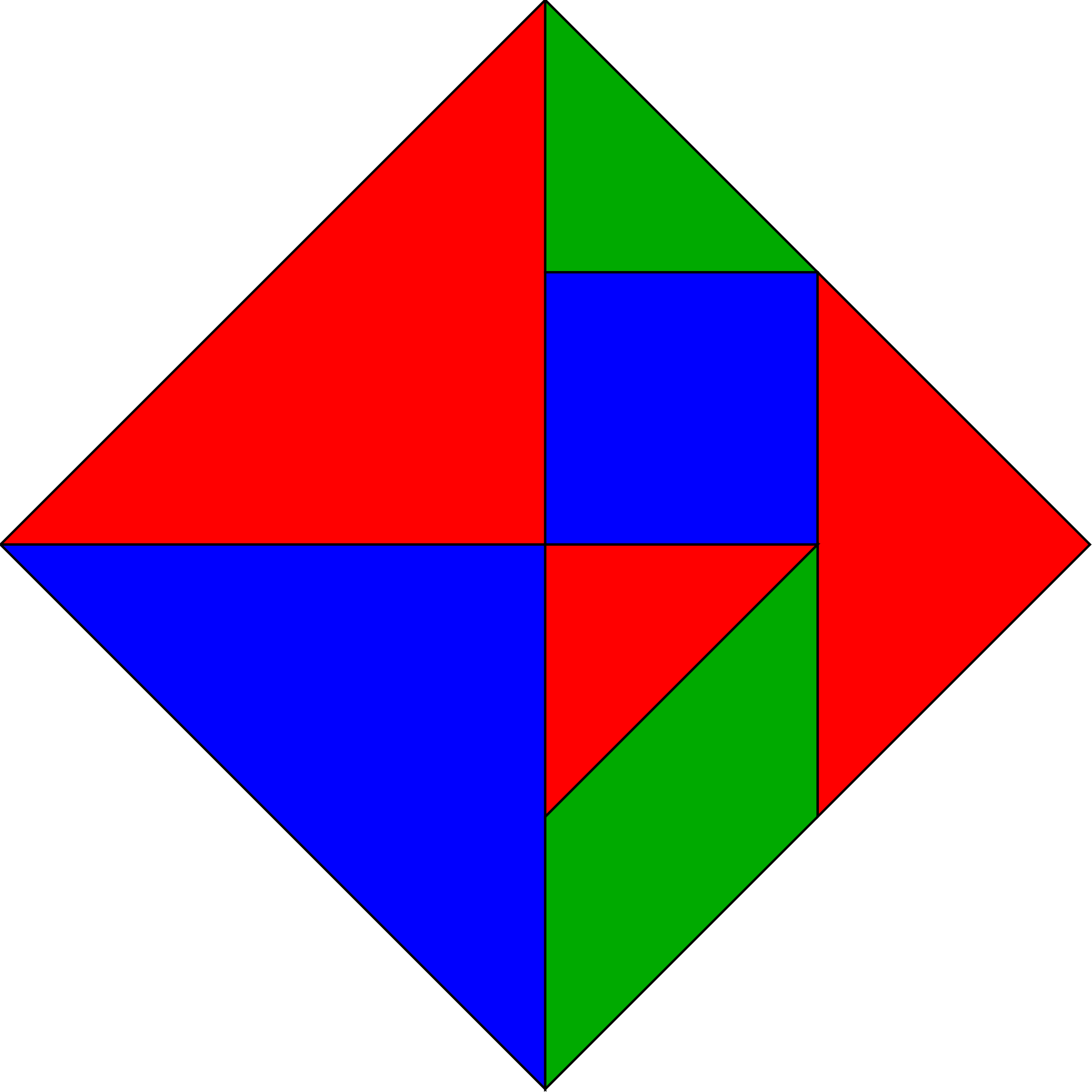 Triangular clipart rgb. Tangram rectangle colors big
