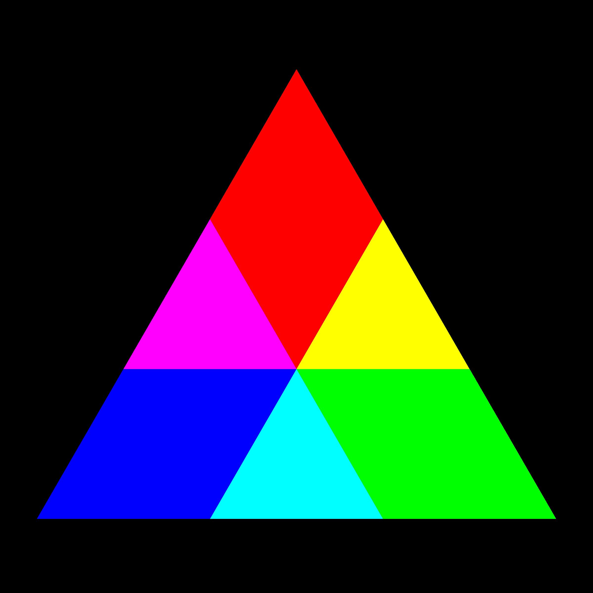 Triangular clipart rgb. Triangle mix big image