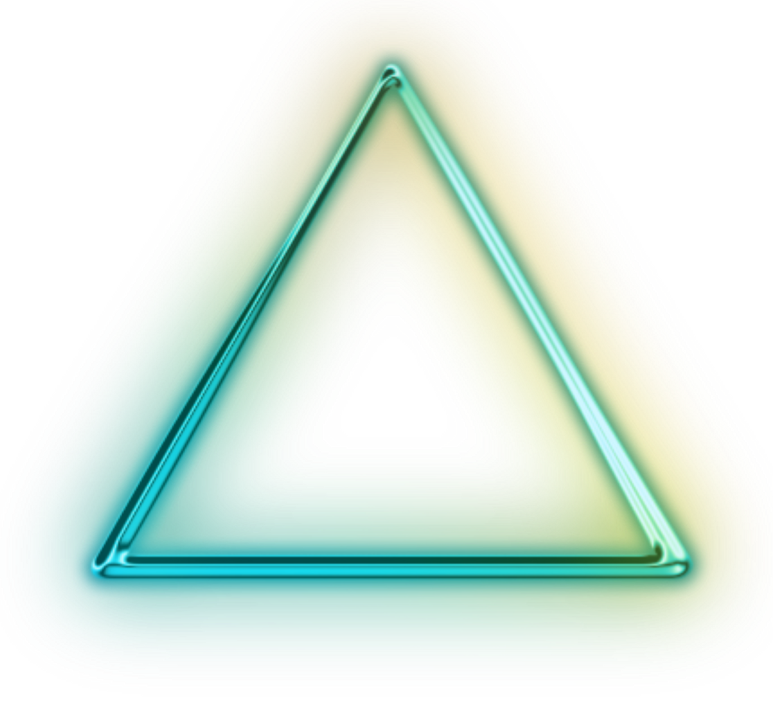 Triangular clipart safety. Ftestickers green neon triangle