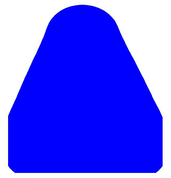 Triangular clipart teaching. Blue triangle clip art