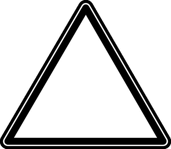 White triangle clip art. Triangular clipart teaching