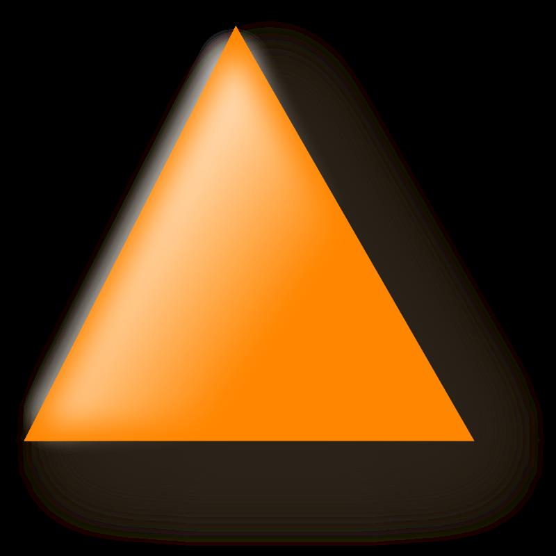 Triangular clipart teaching. Orange triangle clip art