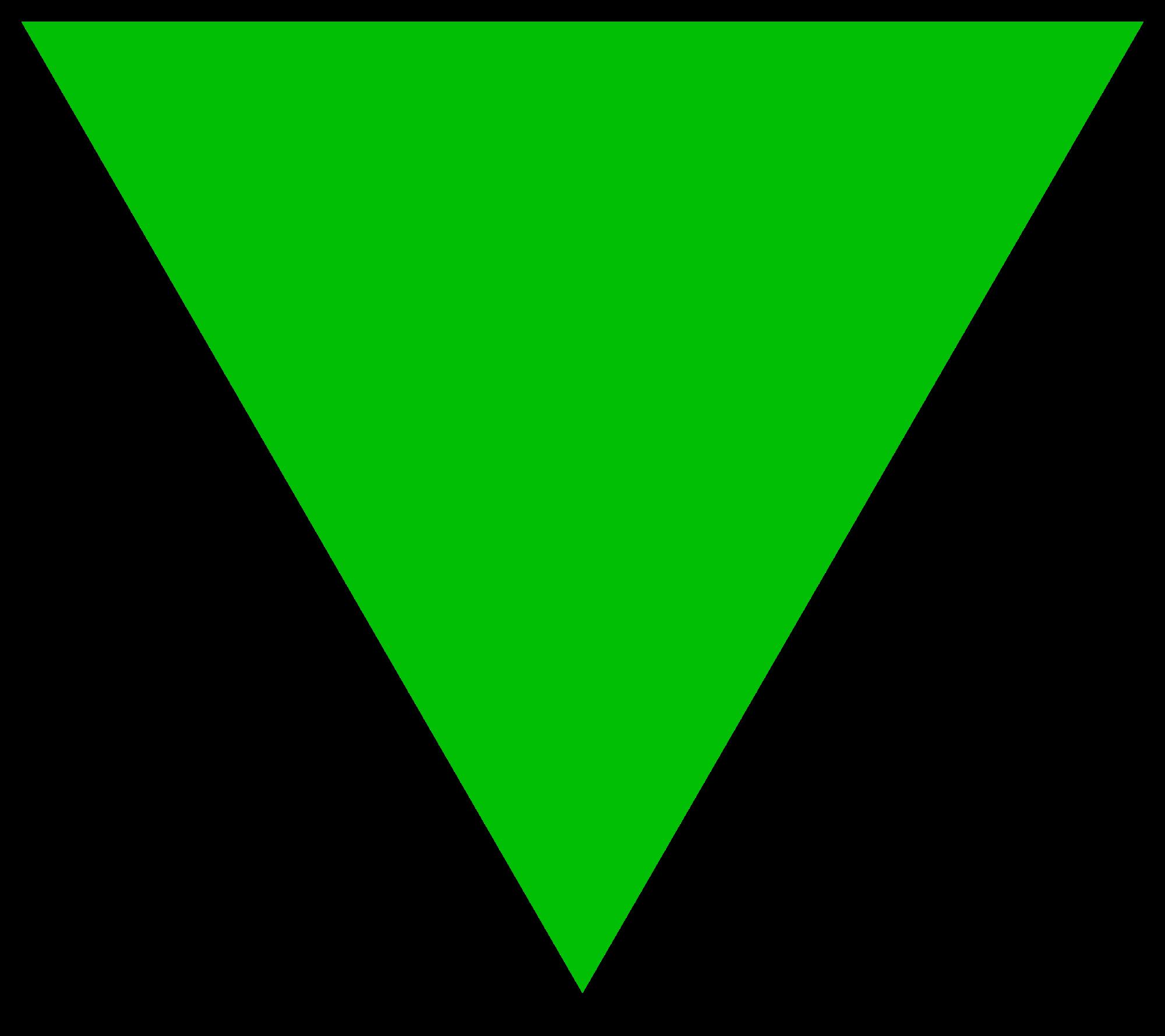 triangular clipart upside down