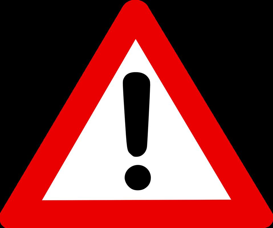 Triangular clipart warning. Public domain clip art
