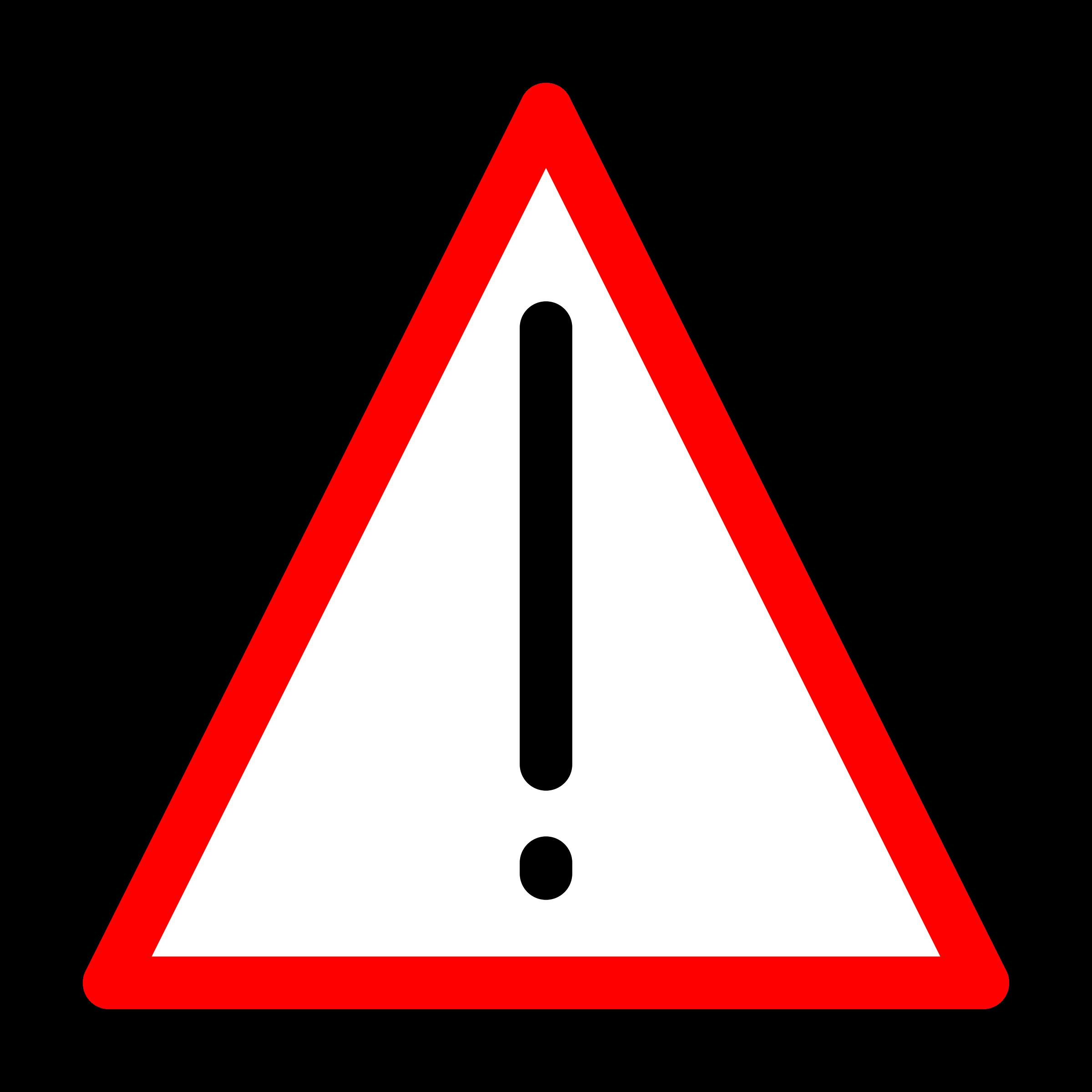 Sign big image png. Triangular clipart warning