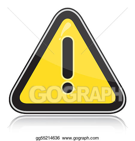 Yellow other dangers sign. Triangular clipart warning