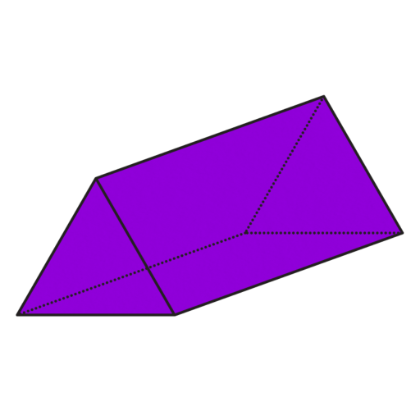 Triangular clipart.  d prism