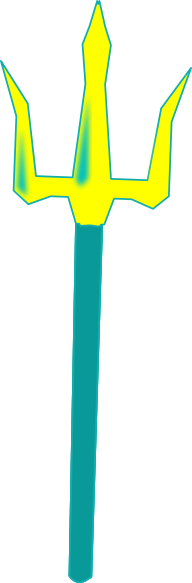 Trident clipart. Two tone yellow clip