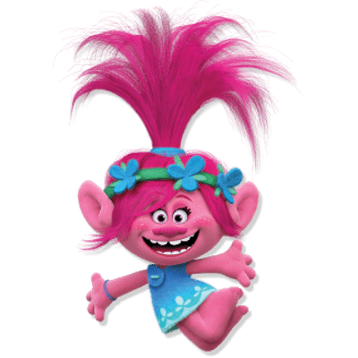 Transparent stickpng poppy jump. Trolls png images